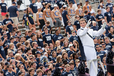 East Hartford CT Sept. 8 2012 Rentschler Field the UConn student section