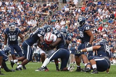 East Hartford CT Sept. 8 2012 Rentschler Field Uconn defense was tough to break through