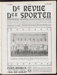 19100410 De Musschen na het winnen van de wedstrijd tegen UD   Revue der Sporten jrg. 3 1910 nr. 48 13 april 1910