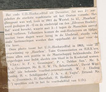 19100227 Tekst bij fot 27-2-1910 uit De Corinthian   Archief UD