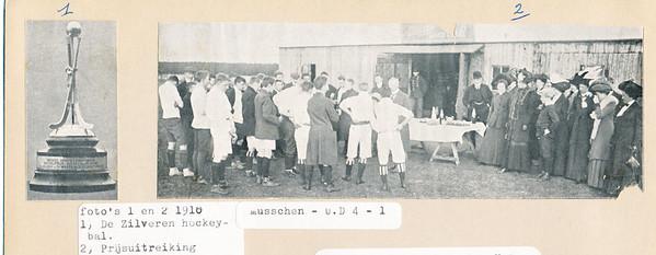 19100410 Zie Revue der Sporten      Archief UD Fotograaf: ? Formaat: foto 1 6 x 3 foto 2 17 x 6 Afdruk zw