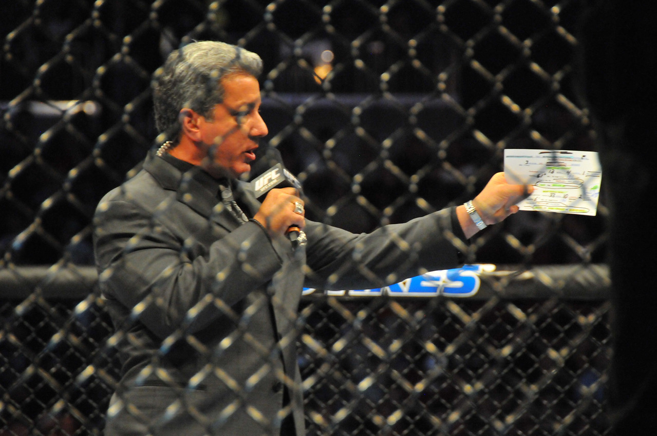 Bruce Buffer, Prudential Center - March 2011