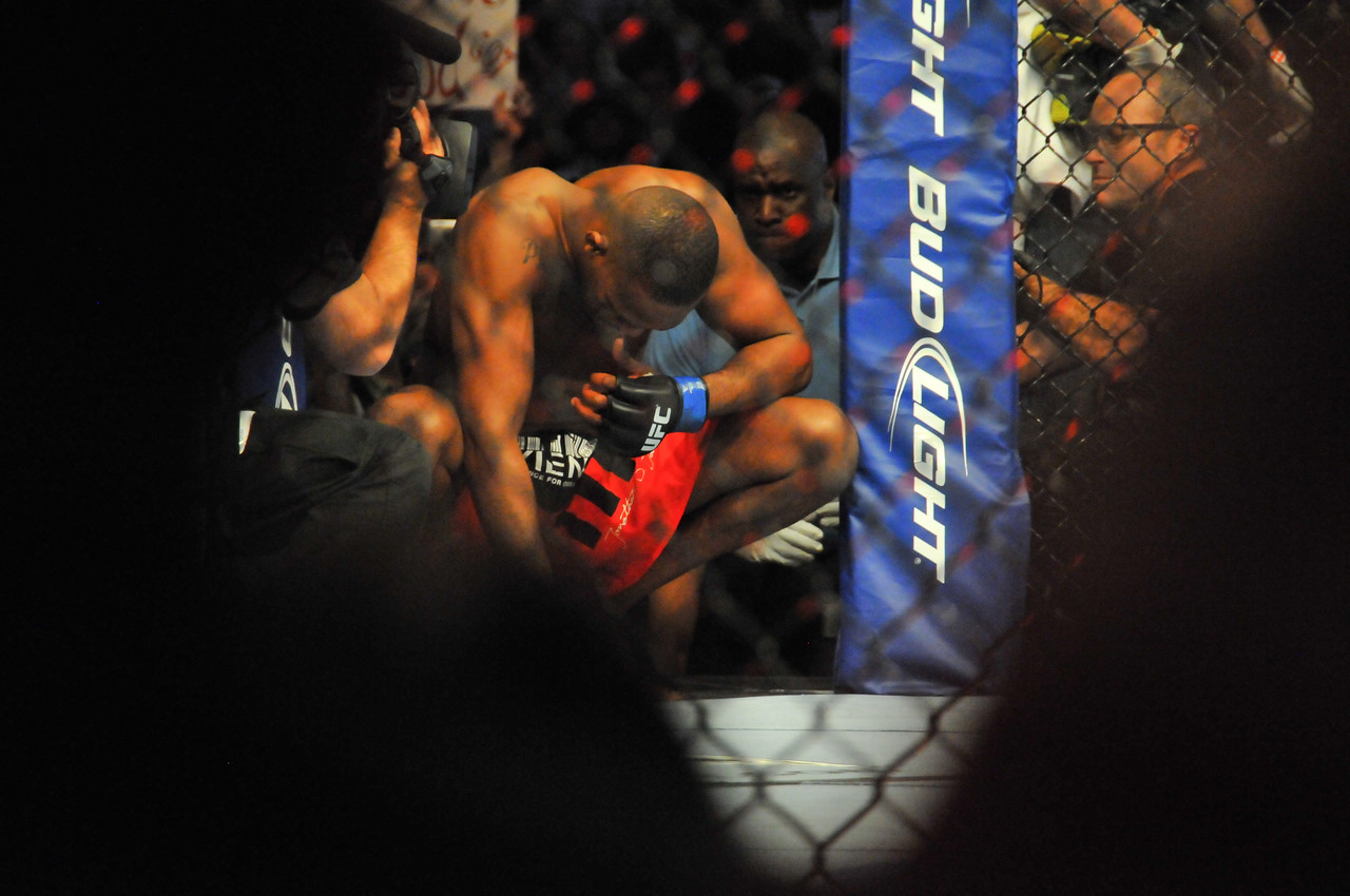 Jon Jones preparing to enter the Octagon, Prudential Center - March 2011