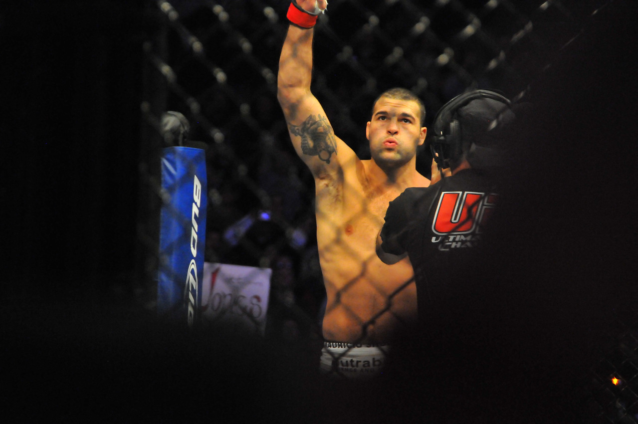 "Current Light Heavyweight Champion, Mauricio ""Shogun"" Rua entering the Octagon, Prudential Center - March 2011"