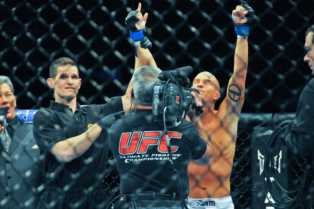 Erik Koch celebrating KO, UFC 128 - March 2011