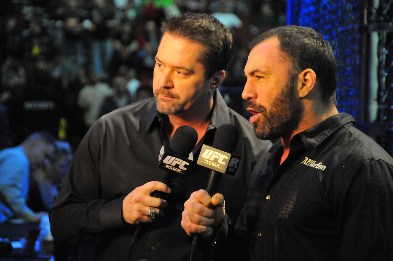 Mike Goldberg and Joe Rogan at Prudential Center - March 2011