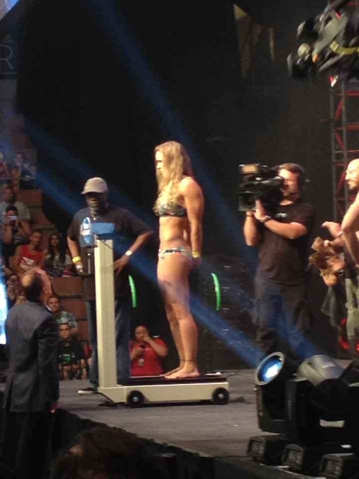 Ronda Rousey Weigh-in for UFC 175 - by Stephen Tecci
