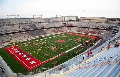 The still nearly-empty stadium.