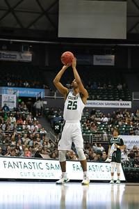 Jamal Smith (25) shoots a technical FT at the Stan Sheriff Center, Honolulu, Hawaii on January 16, 2020.
