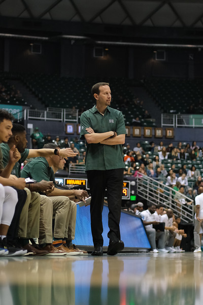 Eran Ganot stands with arms crossed at the Stan Sheriff Center, Honolulu, Hawaii on January 16, 2020.