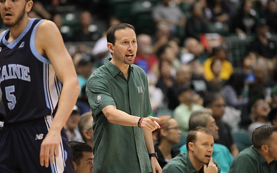 Hawaii coach Eran Ganot returns to the sidelines after a 13 game absence to lead his team against Maine at the Stan Sheriff Center, Honolulu, Hawaii on December 29, 2019.