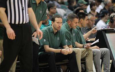 Hawaii head coach Eran Ganot looks on from the bench against Maine at the Stan Sheriff Center, Honolulu, Hawaii on December 29, 2019.