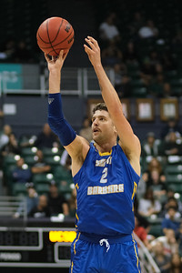 UCSB's Matt Freeman (2) shoots against Hawaii at the Stan Sheriff Center, Honolulu, Hawaii on January 18, 2020. Freeman scored 3 points for the Gauchos.