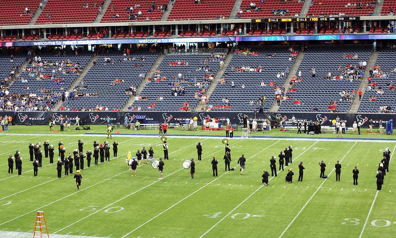 The Rice Band in formation.