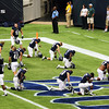 The Rice Owls praying.