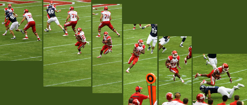 O'Korn passes to Jackson, who then gains yards.