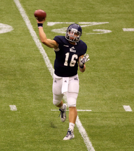 Rice's McHargue passing.