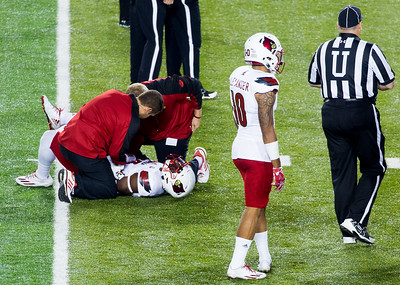 Oh Oh.  Williams is hurt.  He'd been suffering a shoulder injury.  Maybe that caused the fumble.