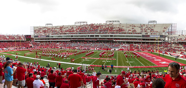 ... and they spell out C-O-U-G-A-R-S as the stadium fills.