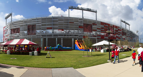 We arrive at TDECU Stadium.  The sun is shining -- for the moment.
