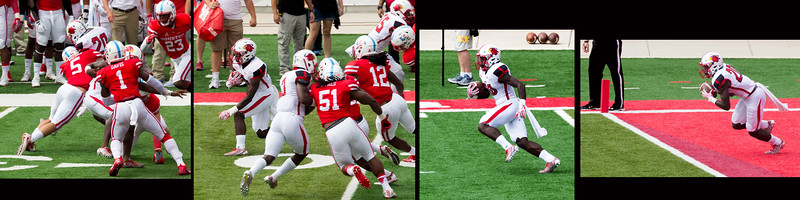 ... and Randle makes a nice 30-yard return for Lamar.