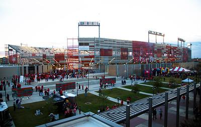 We gather at TDECU Stadium on a cool cloudy Saturday evening.
