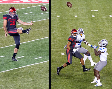 Roy has to punt for UH.  Williams fair catch.