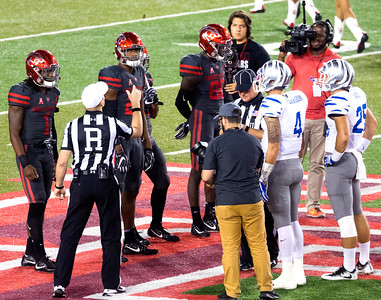 We win the coin toss and elect to kick off to Memphis.