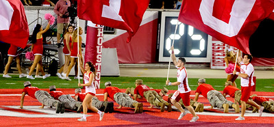 ... and it's flags and push-ups.