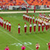 "The University of Houston Marching Band spells ""Cougars""."