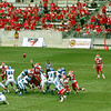 Memphis attempts one of its many field goal.
