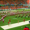 UH Marching Band formation at halftime