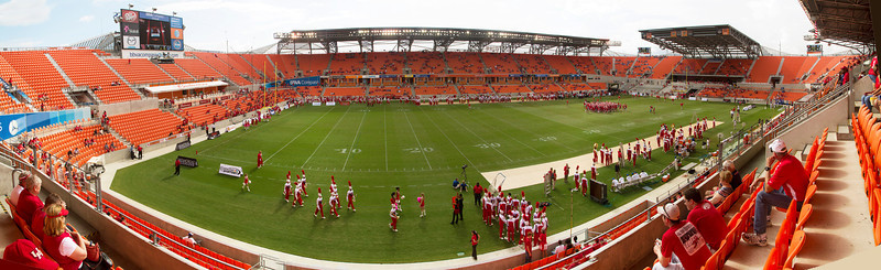 The BBVA Compass Stadium before the game