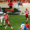 Memphis' Ashley almost makes a catch in the end zone.  (Almost ... )