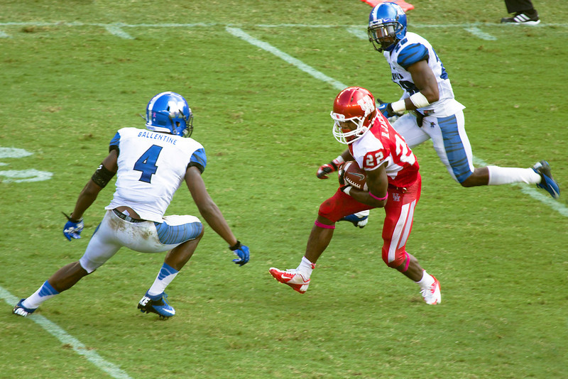 Jackson runs the ball for some of his total 51 yards.