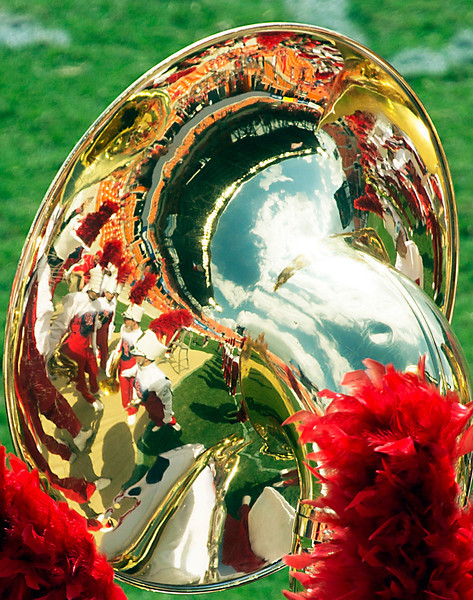 More scenery seen in a tuba bell.