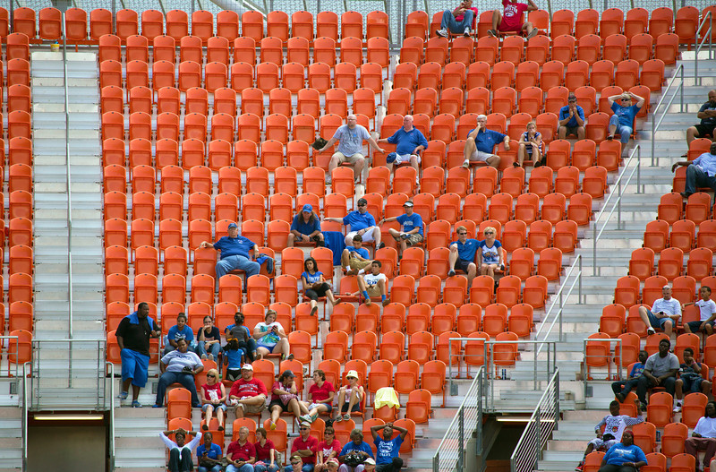 A Memphis State cheering section late in the game.