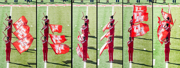 Flag twirler sequence