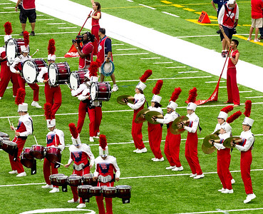 The UH Band arrives.  Here's the percussion group.