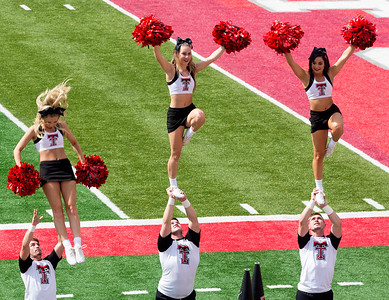 ... and the Tech cheerleaders are highly pleased.