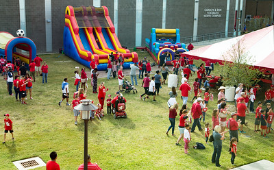Children's play area in front of TDECU Stadium