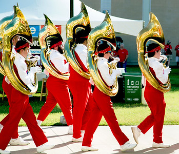 Tubas and football: A marriage made in heaven.
