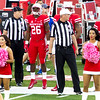 For the coin toss: Referees, Brandon Wilson, Greg Ward jr. and ...
