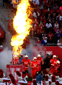 That face obscured by flame belongs to our kicker, Ty Cummings.