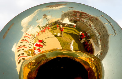 Myself seen in a tuba bell