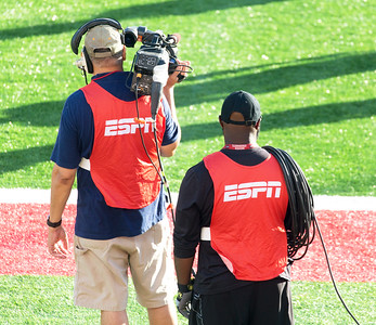 ... and the ESPN cameramen shakedown their equipment.
