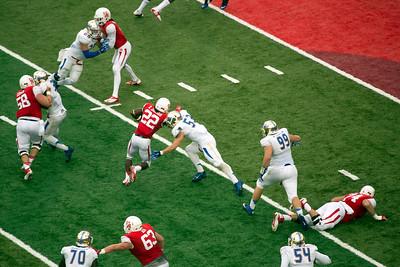 Jackson runs the ball to an almost-touchdown.