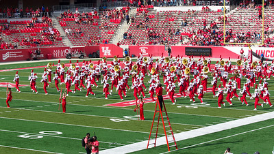 The full band now takes the field at a run.