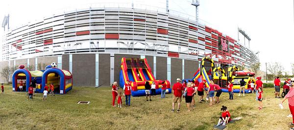 TDECU Stadium is Kid-Friendly as we enter.