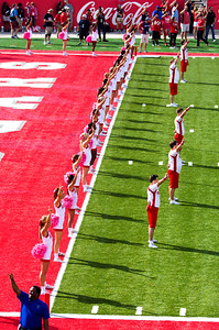 ... and another cheerleader formation